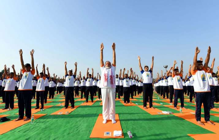 International Yoga Day 2018 PM Modi Joina Millions Of