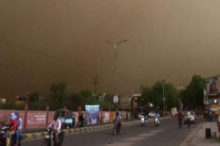 The MeT department on Tuesday issued a dust storm warning