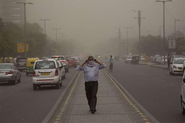 "The air quality in Delhi remained beyond the ""severe"" level"