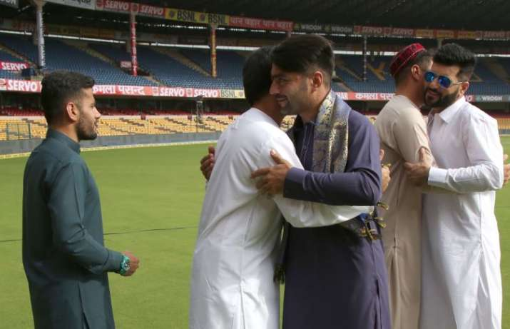 India Tv - The Afghan players celebrated Eid before the match