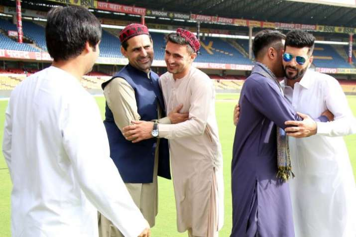 India Tv - Rashid Khan, Asghar Stanikzai and other players were seen at the ground