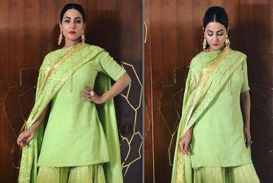 Hina Khan's look for Iftaar party