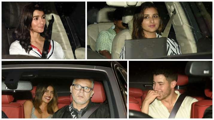 India Tv - Priyanka Chopra, Nick Jonas, Alia Bhatt, Parineeti Chopra