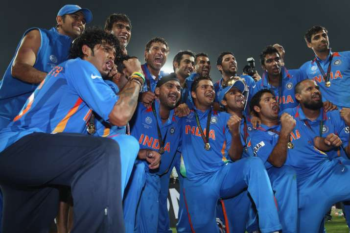 India Tv - The Indian team that lifted the ICC World Cup 2011