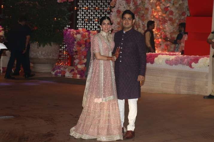 India Tv - Akash Ambani with fiancee Shloka Mehta
