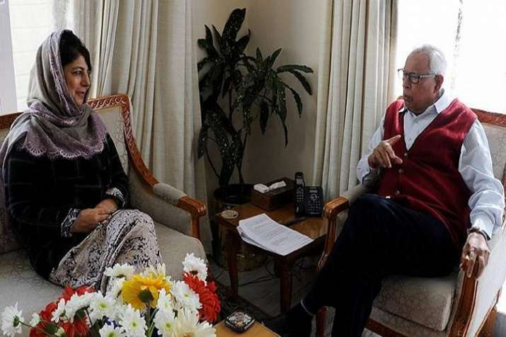 Governor NN Vohra on Tuesday evening recommended to