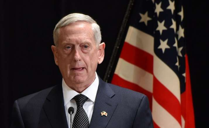 US Defence Secretary James Mattis accused China of