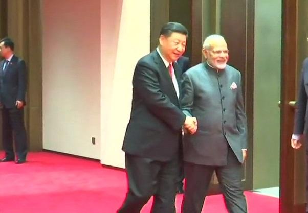 PM Modi meets Jinping
