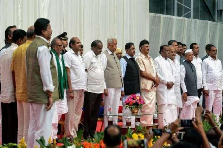 JD-S leader H.D. Kumaraswamy and Congress state unit