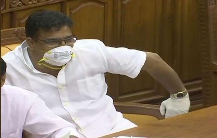 Kuttiady MLA Parakkal Abdulla wore masks and gloves