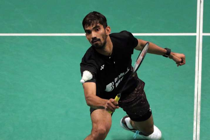 Kidambi Srikanth of India in action during Celcom Axiata Badminton Malaysia Open 2018.