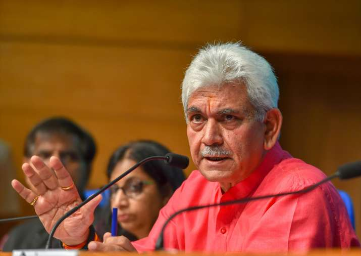 Communications Minister Manoj Sinha