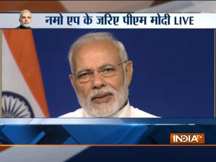 PM Modi interacting beneficiaries of Digital India