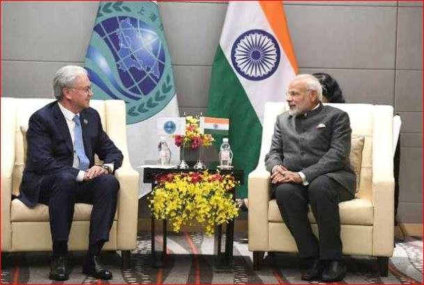 PM Modi with SCO Secretary General