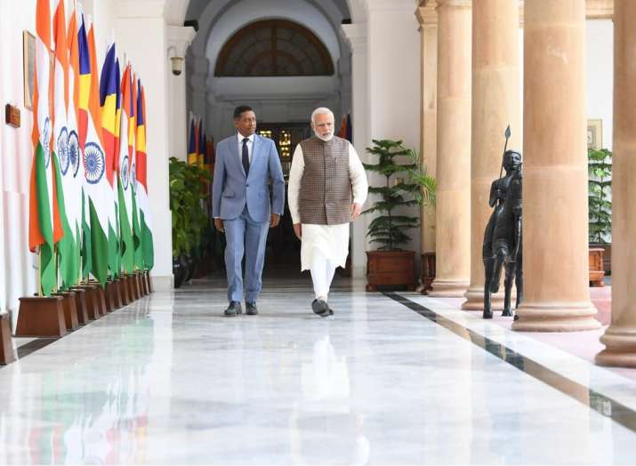 PM Modi with President of Seychelles Danny Faure