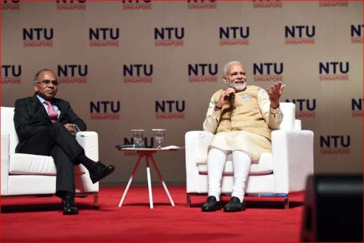 PM Modi atSingapore's prestigious Nanyang Technological