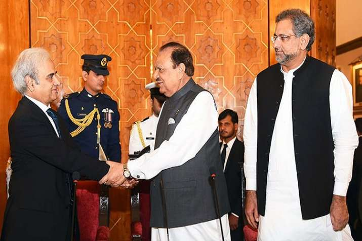 President Hussain had administered the oath to 67-year-old