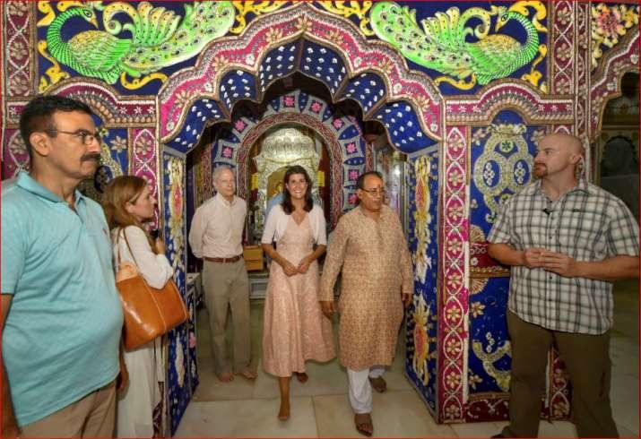 US envoy to the UN Nikki Haley and US Ambassador to India