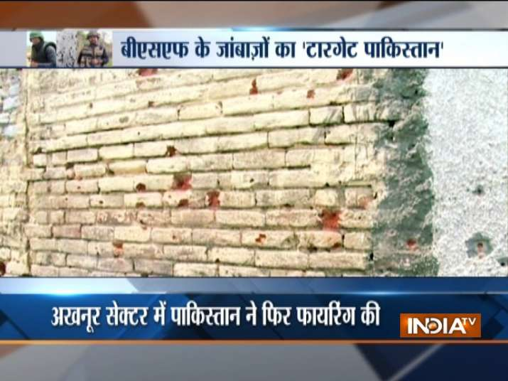 India Tv - The visuals from the villages reveal how intensethe firing has been. Anything and everything out in the open is riddled with bullets.