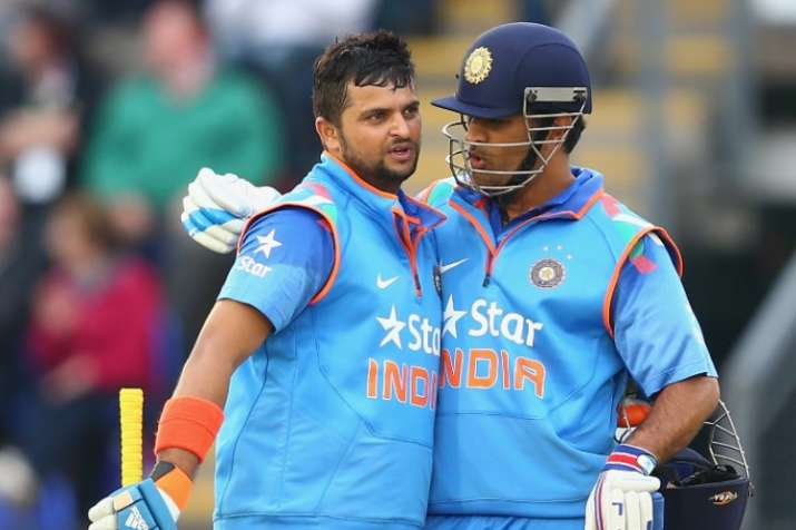 Image result for MS Dhoni Suresh Raina""