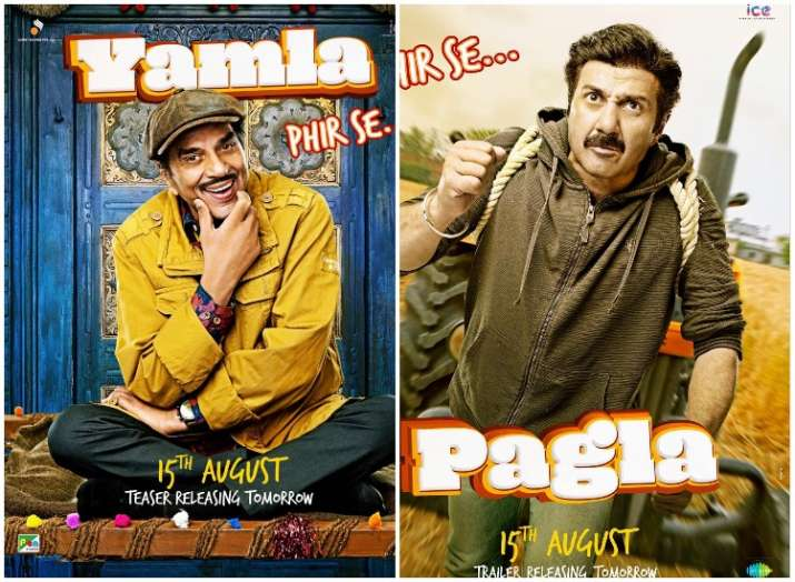 Yamla Pagla Deewana Phir Se first look posters
