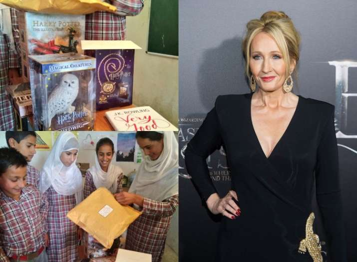 Harry Potter Author Jk Rowling Surprises Kashmir School Kids With  Image Source  Twitter Jk Rowling  How To Write An Essay With A Thesis also My English Essay  Annotated Bibliography Helper