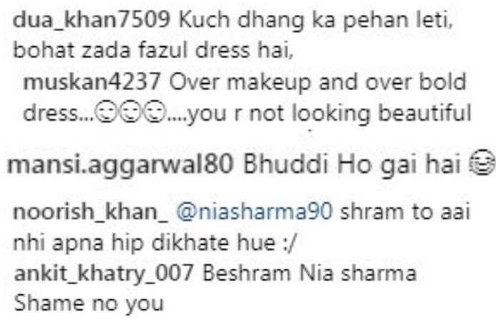 India Tv - Social media users slammed Nia Sharma for her bold choice of fashion.
