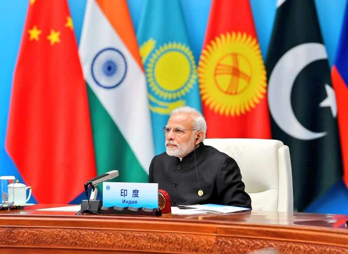 India Tv - PM Modi at the restricted session of the SCO Summit.