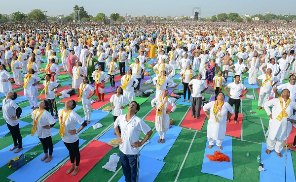 India Tv - Yoga Day celebrations in Rajasthan