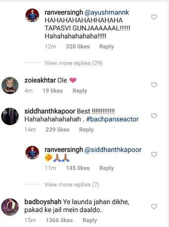 India Tv - Comment on Ranveer Singh's post