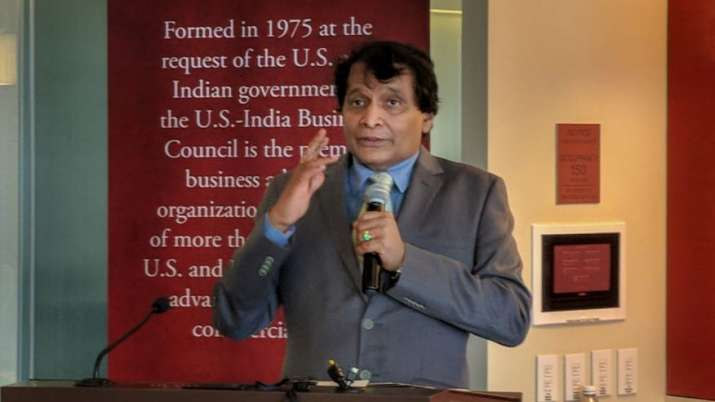 India Tv - Washington DC: Commerce and Industry Minister Suresh Prabhu speaks at a reception hosted by US-India Business Council on Tuesday