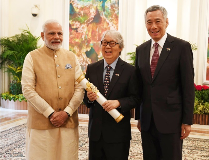 Prime Minister Narendra Modi on Friday conferred the Padma