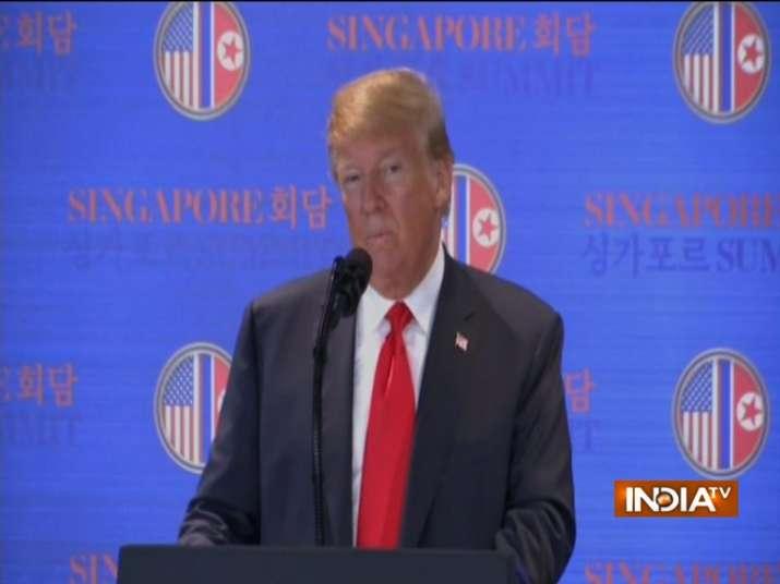 Trump-Kim Singapore Summit: US Prez says North Korean