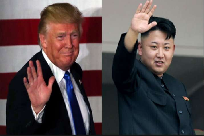 Donald Trump and Kim Jong-Un who have engaged in a series