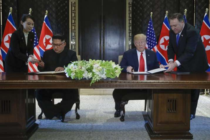 North Korea leader Kim Jong Un and US President Donald