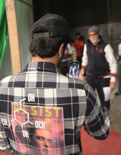 India Tv - Ranbir Kapoor shooting Amitabh Bachchan at Brahmastra set.