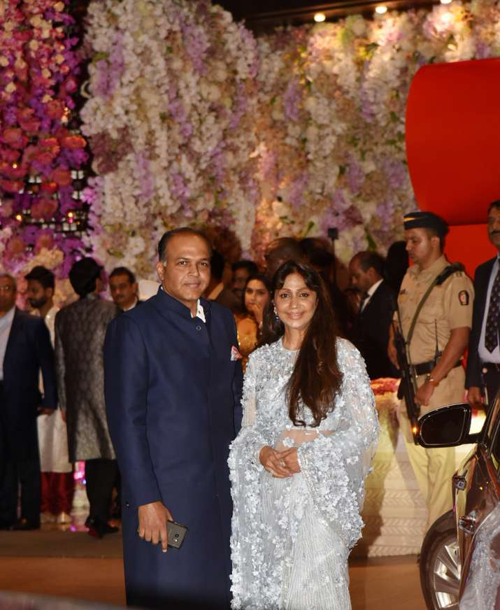 India Tv - Ashutosh Gowariker at Akash Ambani and Shloka Mehta's engagement ceremony