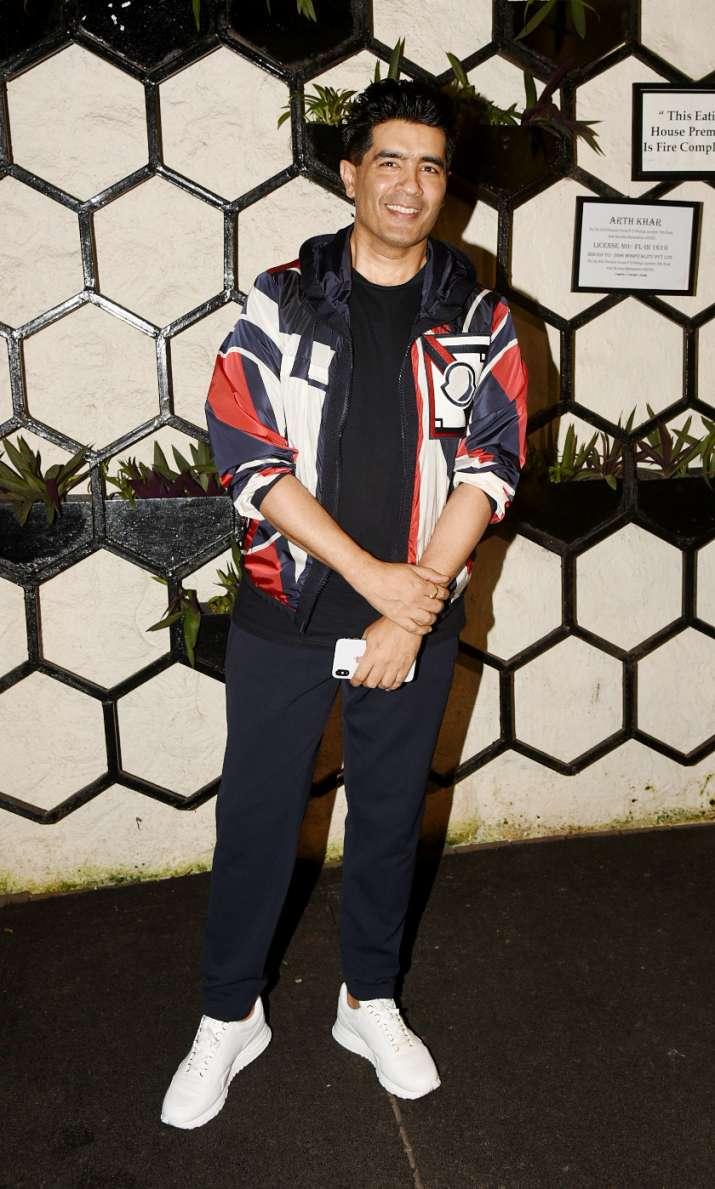 India Tv - Manish Malhotra atDinesh Vijan and Kriti Sanon's birthday party