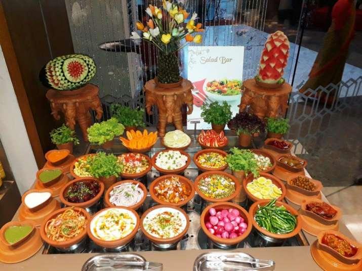 India Tv - Mouthwatering Salad Bar atRajasthani Food Festival