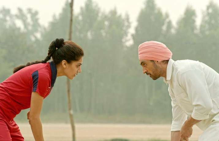 India Tv - Taapsee and Diljit as Harpreet and Sandeep in Soorma