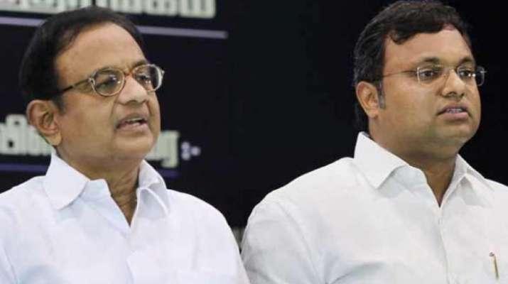 P Chidambaram and his son