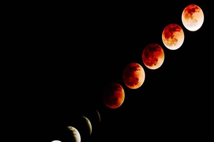 India Tv - Phases of Blood Moon.