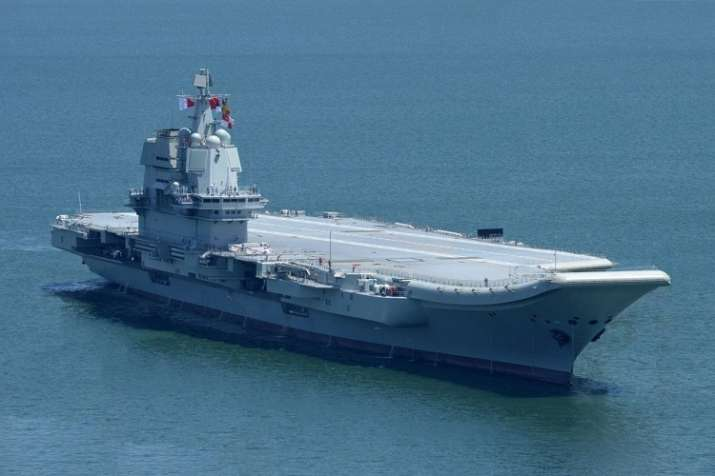 The outfitting work on the aircraft carrier Type 001A was