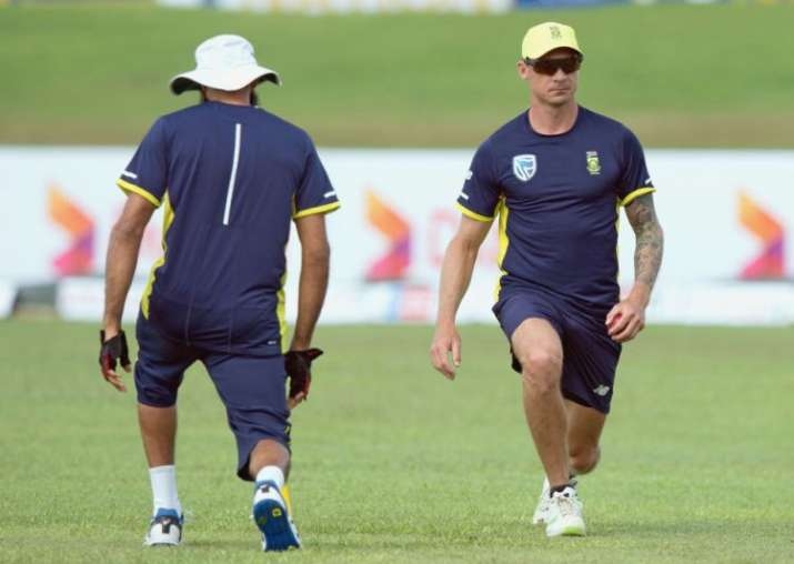 Dale Steyn in action during a practice session