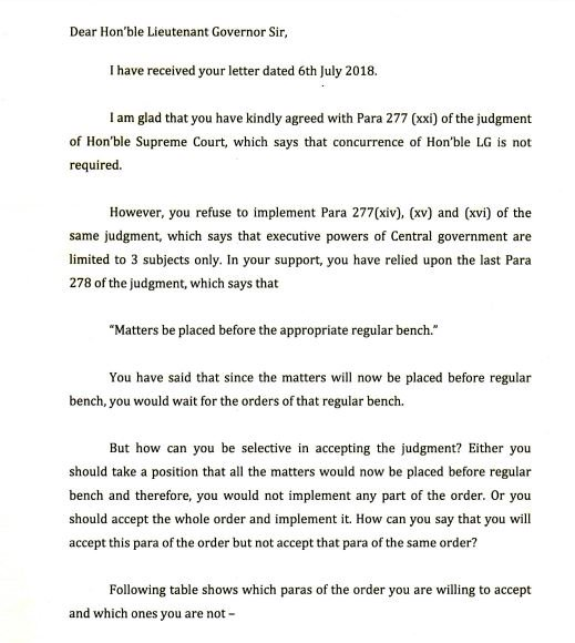 India Tv - Kejriwal's letter to L-G