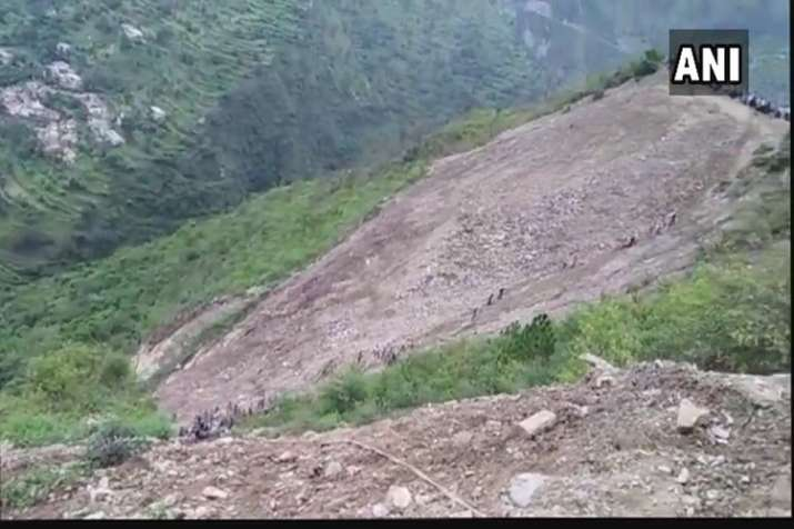 India Tv - Uttarakhand Transport Corporation bus falls into gorge