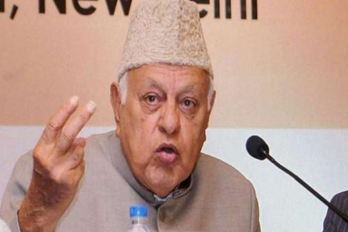 National Conference Party President Farooq Abdullah.