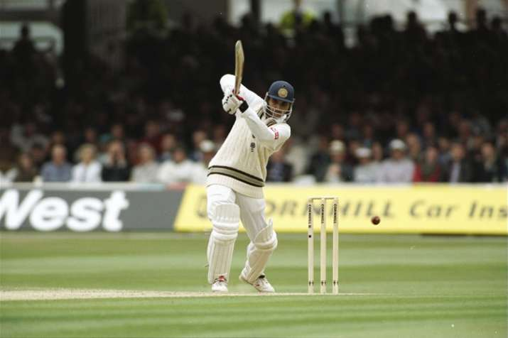 India Tv - Sourav Ganguly en route to his debut ton.