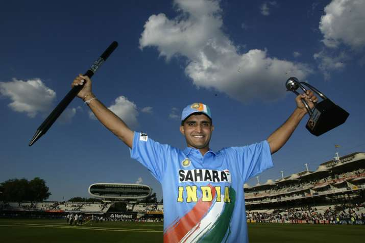 India Tv - Sourav Ganguly after winning the Natwest Trophy.