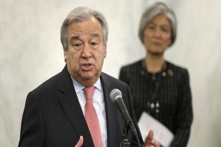 Guterres expressed his condolences to the families of the